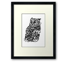 Inked Up Owl Framed Print