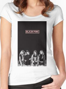black pink 6 Women's Fitted Scoop T-Shirt