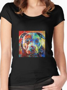 Stafforshire Bull Terrier Women's Fitted Scoop T-Shirt