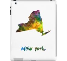 New York US state in watercolor iPad Case/Skin