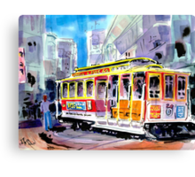 Trolley Turn Around San Francisco Canvas Print