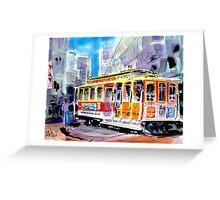 Trolley Turn Around San Francisco Greeting Card