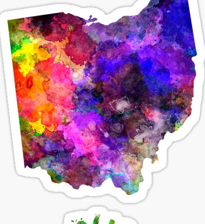 Ohio US state in watercolor Sticker
