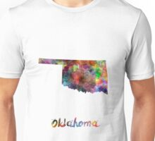 Oklahoma US state in watercolor Unisex T-Shirt