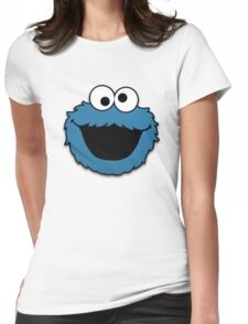 Cookie Monster Muppet Womens Fitted T-Shirt