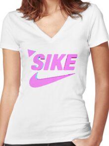 Sike Nike Vaporwave Women's Fitted V-Neck T-Shirt