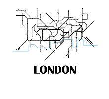 London tube map by MadeleineKyger