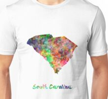South Carolina US state in watercolor Unisex T-Shirt