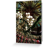 Ceiling Decor - Red and Green Greeting Card