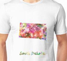 South Dakota US state in watercolor Unisex T-Shirt