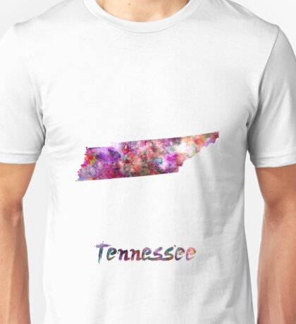 Tennessee US state in watercolor Unisex T-Shirt