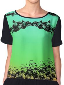 Peacock Feathered Formal Chiffon Top