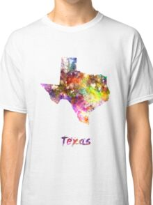 Texas US state in watercolor Classic T-Shirt