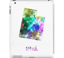 Utah US state in watercolor iPad Case/Skin