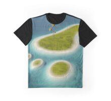 Eco footprint shaped island Graphic T-Shirt