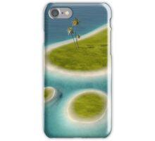 Eco footprint shaped island iPhone Case/Skin