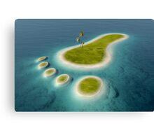 Eco footprint shaped island Canvas Print