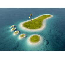 Eco footprint shaped island Photographic Print