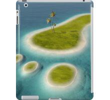 Eco footprint shaped island iPad Case/Skin