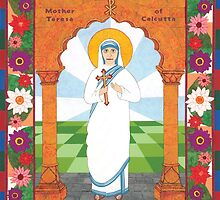 Mother Teresa of Calcutta Icon by David Raber