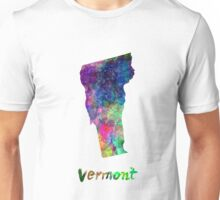 Vermont US state in watercolor Unisex T-Shirt