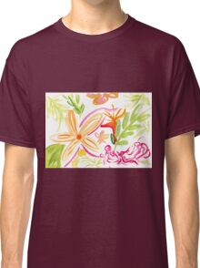 Tropical Plants Watercolour Illustration Classic T-Shirt