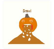 pumpkin barf Art Print
