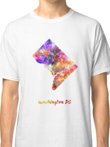 Washington DC US state in watercolor Classic T-Shirt