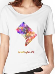 Washington DC US state in watercolor Women's Relaxed Fit T-Shirt