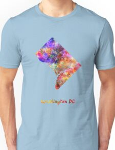 Washington DC US state in watercolor Unisex T-Shirt