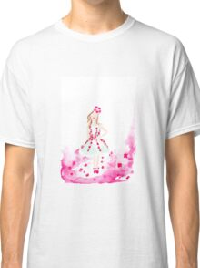 Wearing the Garden Watercolour Illustration Classic T-Shirt