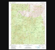 USGS TOPO Map Arizona AZ Crown King 311040 1969 24000 Unisex T-Shirt