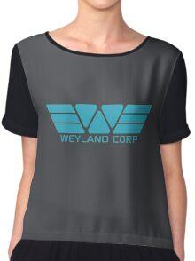 Weyland Corp logo - Alien - Blue Chiffon Top