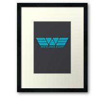 Weyland Corp logo - Alien - Blue Framed Print