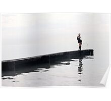 curve blonde in harbor Poster
