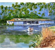 AUDLEY BOATSHED NSW Photographic Print