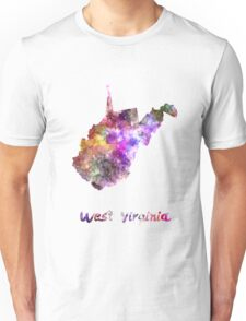 West Virginia US state in watercolor T-Shirt