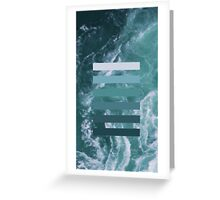 Colour layers, ocean green Greeting Card