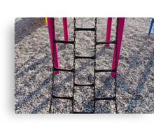 At the Playground  Canvas Print