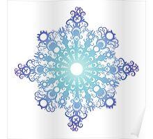 Blue Flake V Poster