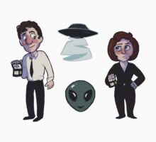x files sticker sheet  by owlcoholik