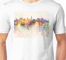 Melbourne skyline in watercolor background Unisex T-Shirt