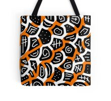 Orange playful pattern Tote Bag