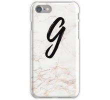 Pink Marble Effect Monogram - G iPhone Case/Skin