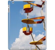 Giant Ferris Wheel In Fun Park On Blue Sky iPad Case/Skin