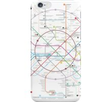 Moscow metro map iPhone Case/Skin