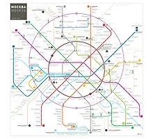 Moscow metro map Photographic Print