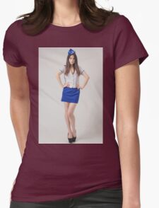 beautiful asian woman Womens Fitted T-Shirt