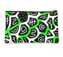 Green playful pattern Studio Pouch