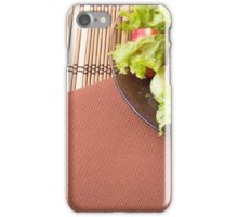Plate with fresh salad of raw tomatoes and lettuce iPhone Case/Skin